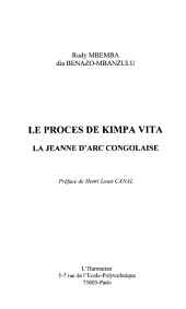 LE PROCÈS DE KIMPA VITA: La Jeanne d'Arc congolaise
