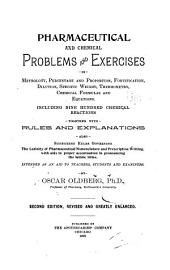 Pharmaceutical and Chemical Problems and Exercises in Metrology, Percentage and Proportion ...: By Oscar Oldberg