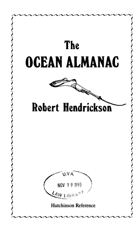 The Ocean Almanac PDF