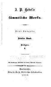 J.P. Hebel's sämmtliche werke: Band 5