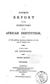Report of the Committee of the African Institution: Volume 4