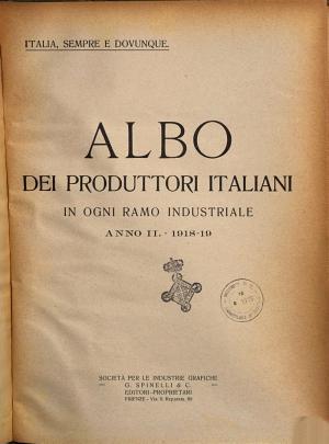 Albo dei produttori italiani in ogni ramo industriale PDF