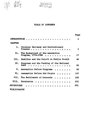 The Assumption of State Debts 1783 1793 PDF