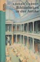 Bibliotheken in der Antike PDF