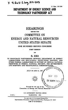 Department of Energy Science and Technology Partnership Act PDF