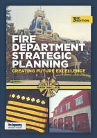 Fire Department Strategic Planning  3rd Edition PDF