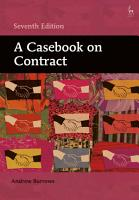 A Casebook on Contract PDF
