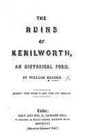 The Ruins of Kenilworth  an Historical Poem PDF
