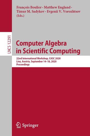 Computer Algebra in Scientific Computing PDF