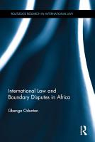 International Law and Boundary Disputes in Africa PDF