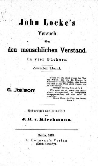 John Locke s Versuch   ber den menschlichen Verstand PDF