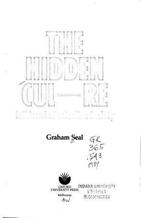The Hidden Culture PDF