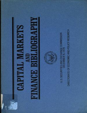 Capital Markets and Finance Bibliography PDF