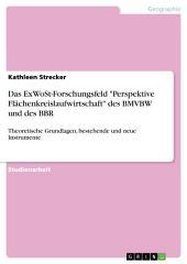 """Das ExWoSt-Forschungsfeld """"Perspektive Flächenkreislaufwirtschaft"""" des BMVBW und des BBR: Theoretische Grundlagen, bestehende und neue Instrumente"""