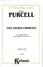 Five Sacred Choruses: Choral Worship Collection