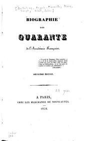 Biographie des quarante de l'Académie française