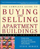 The Complete Guide to Buying and Selling Apartment Buildings PDF