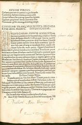 De vita Caesarum: mit Monosticha und Tetrasticha aus den Caesares des Decimus Magnus Ausonius