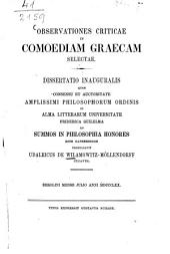 Observationes criticae in comoediam graecam selectae