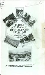 Forest And Range Resources Of Utah Book PDF