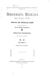 Bibliografía mexicana del siglo XVIII: Número 5