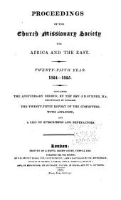 Proceedings of the Church Missionary Society for Africa and the East...: Volume 25