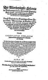 Die allerheiligste Historia der Passion U. H. J. Chr