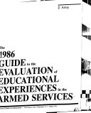 Guide to the Evaluation of Educational Experiences in the Armed Services PDF