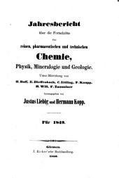 Jahresbericht über die fortschritte der chemie und verwandter teile anderer wissenschaften ...: Teil 1,Seiten 1-400