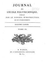 Journal de l'École polytechnique: Volume9,Numéro16