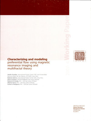 Characterizing and modeling preferential flow using magentic resonance imaging and multifractal theory
