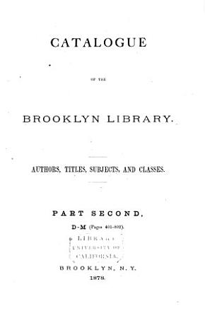 Catalogue of the Mercantile Library of Brooklyn  D M PDF