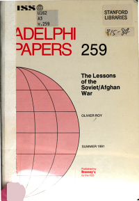 The Lessons of the Soviet Afghan War PDF