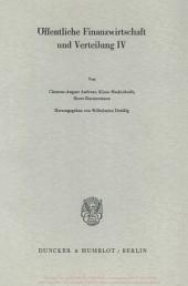 Öffentliche Finanzwirtschaft und Verteilung