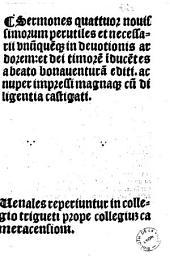 Sermones quattuor nouissimorum. Ed. Peregrinus Italicus