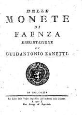 Delle monete di Faenza dissertazione