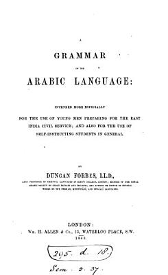 A grammar of the Arabic language PDF