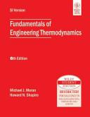 FUNDAMENTALS OF ENGINEERING THERMODYNAMICS  6TH ED Book