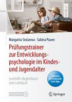 Pr  fungstrainer zur Entwicklungspsychologie im Kindes  und Jugendalter PDF