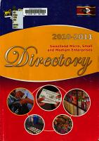 Swaziland Micro  Small and Medium Enterprises Directory PDF