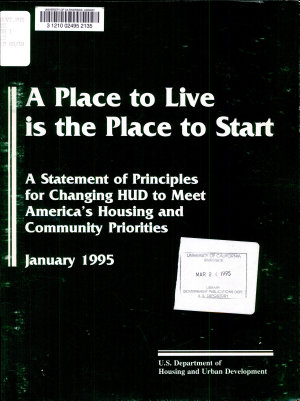 A Place to Live is the Place to Start