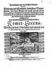Gründlicher und warhaffter Bericht von dem Ursprung der Kometen ...: aus Anlass dess gegenwärtigen schröcklichen Komet-Sterns, Welcher ... 1680 sich widerumb sehen lässet ...