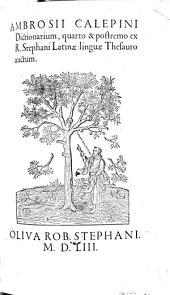 Dictionarium (latinum) quarto et postremo ex R. Stephani latinae linguae thesauro auctum