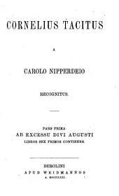 Cornelius Tacitus: Volumes 1-3