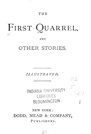 The First Quarrel  and Other Stories