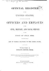 Official Register of the United States: Volume 1