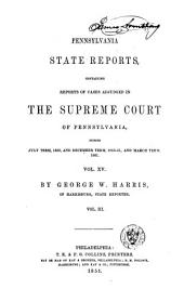 Pennsylvania State Reports: Volume 15