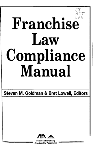 Franchise Law Compliance Manual PDF