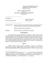 Steven Altman, Esq.: Securities and Exchange Commission Decision