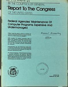 Federal Agencies  Maintenance of Computer Programs PDF